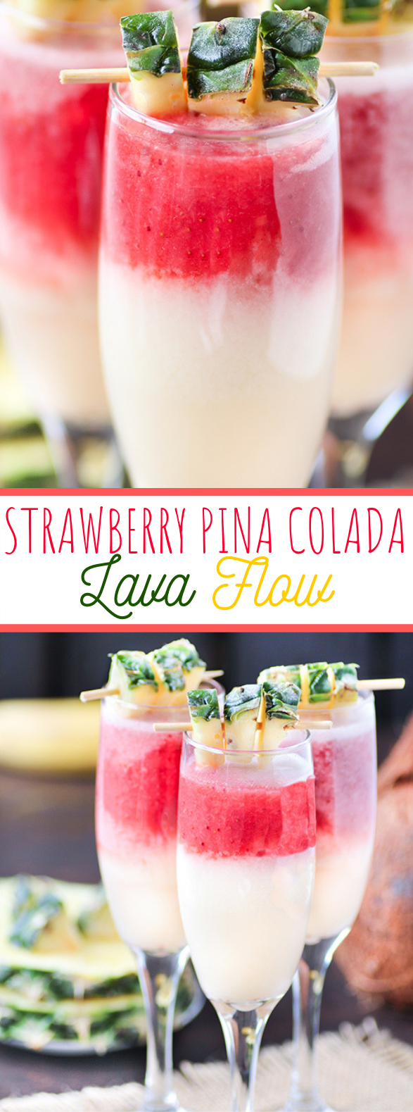 Strawberry Pina Colada Lava Flow #drinks #tropical