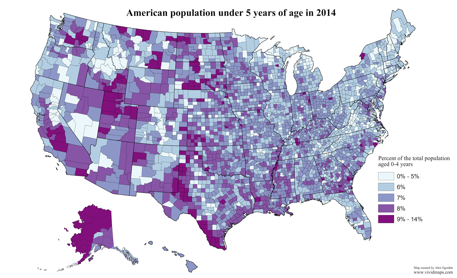 American population under 5 years of age in 2014