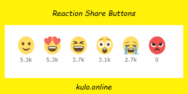 Reaction Share Buttons