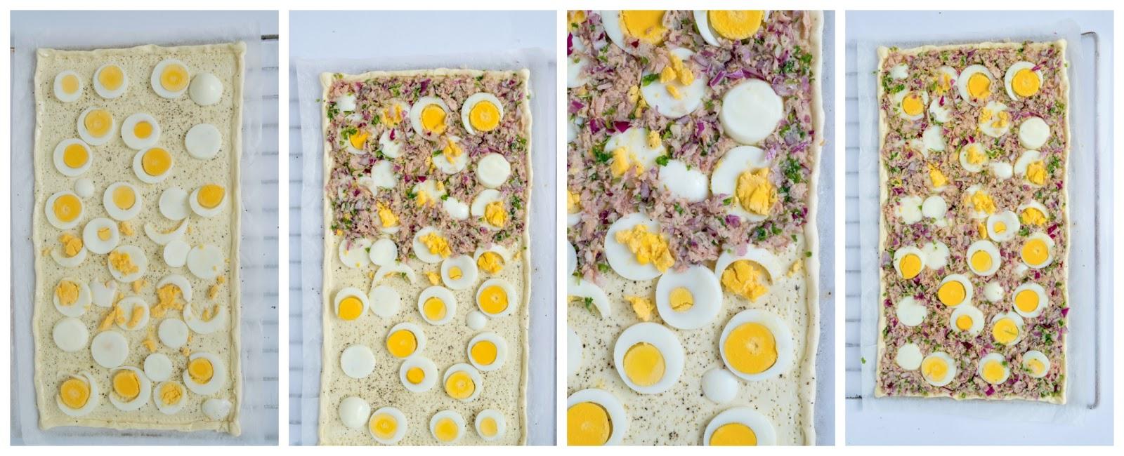 Hartige taart voor Pasen, stap voor stap