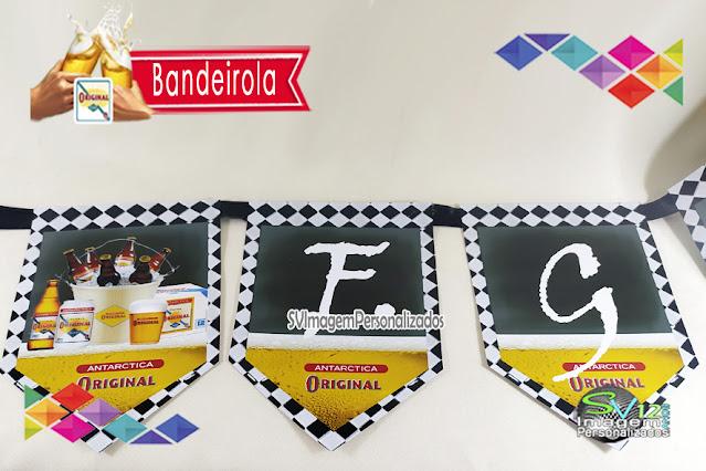 Festa Boteco Cerveja Antarctica Original dica decoração , os preços mais baratos para personalizados bandeirolas