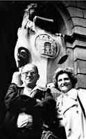 Witold Szolginia z żoną podczas pierwszego od wojny pobytu we Lwowie,1968 Fot. http://www.polska1918-89.pl