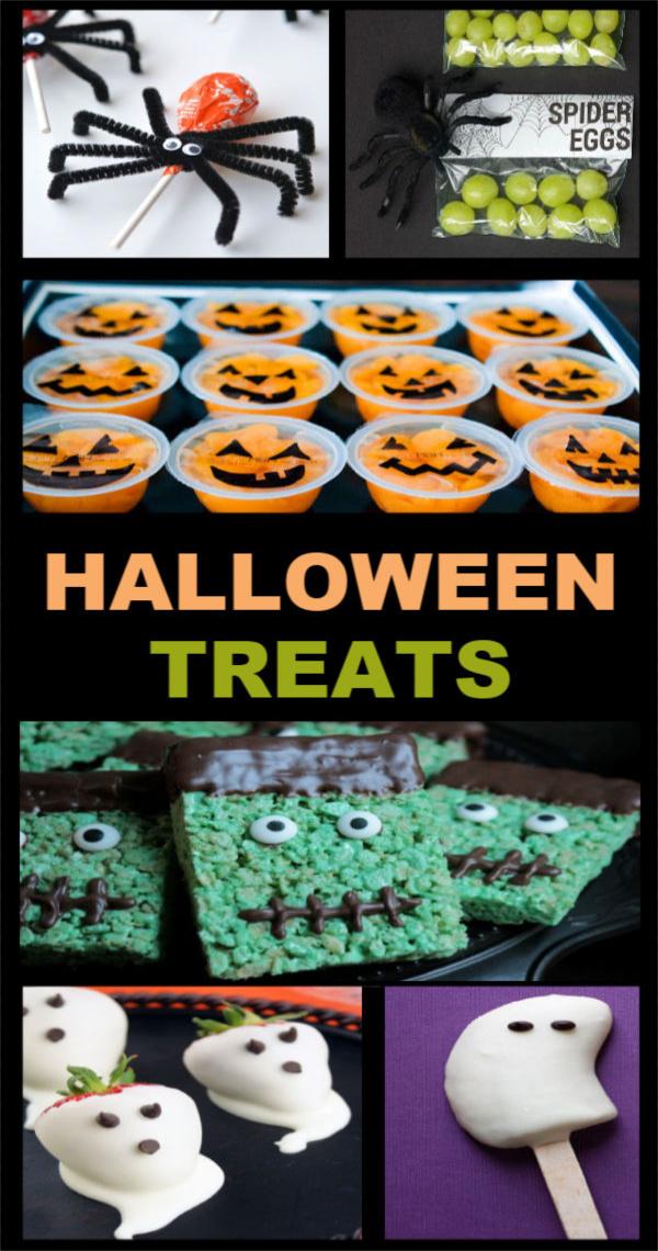 Fun & creative Halloween treat ideas for kids #halloweentreats #halloweentreatsforkids ##halloweenfoodforparty #halloween #growingajeweledrose