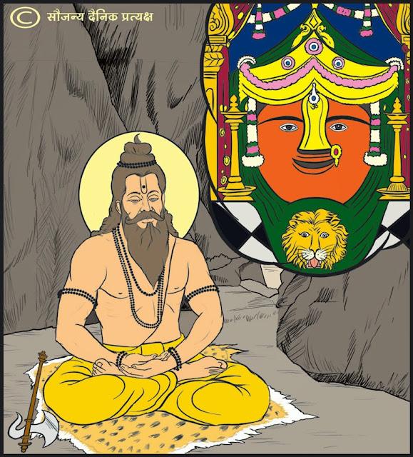 माता रेणुका  और पुत्र भगवान परशुराम