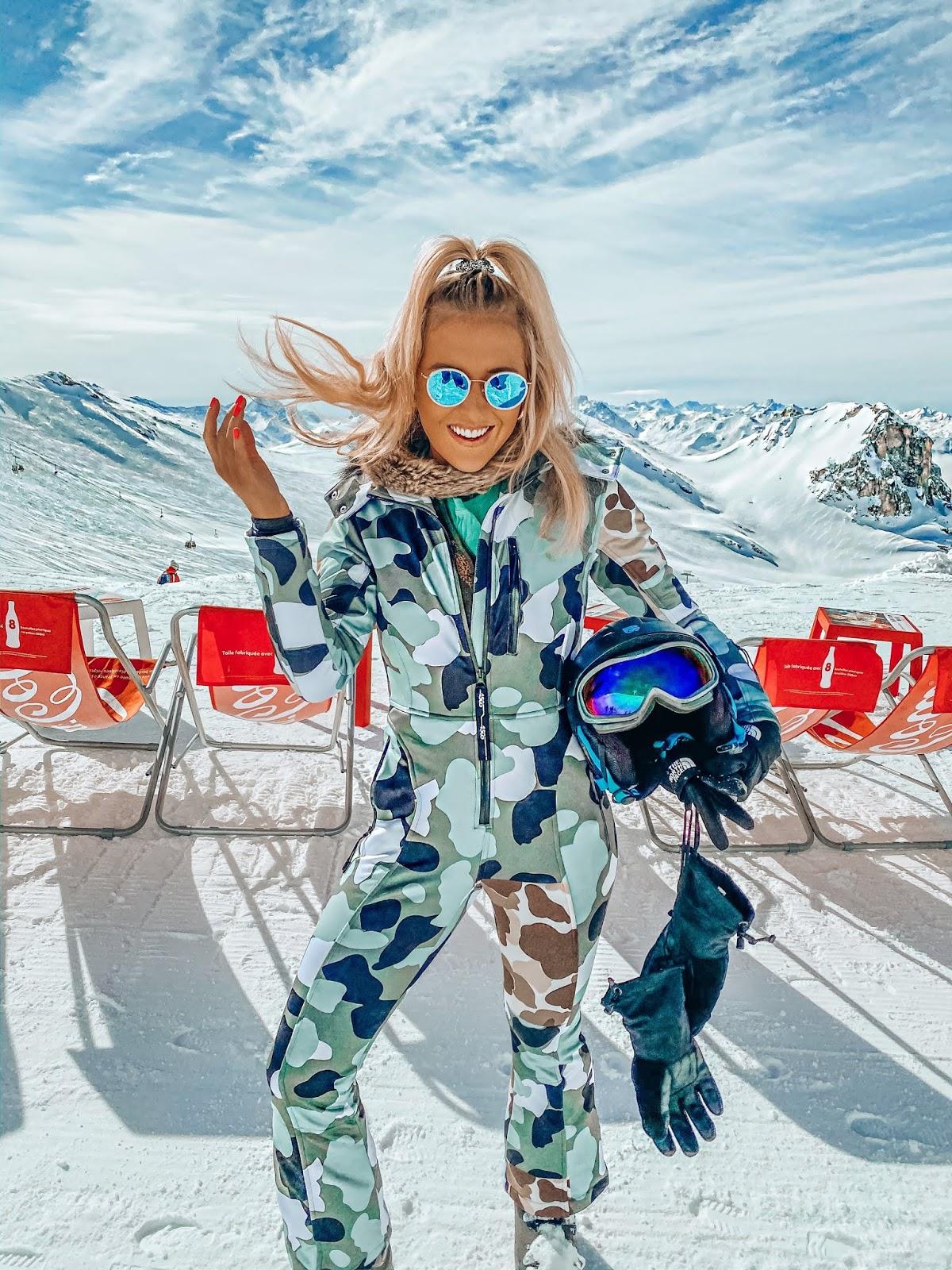camo ski one piece