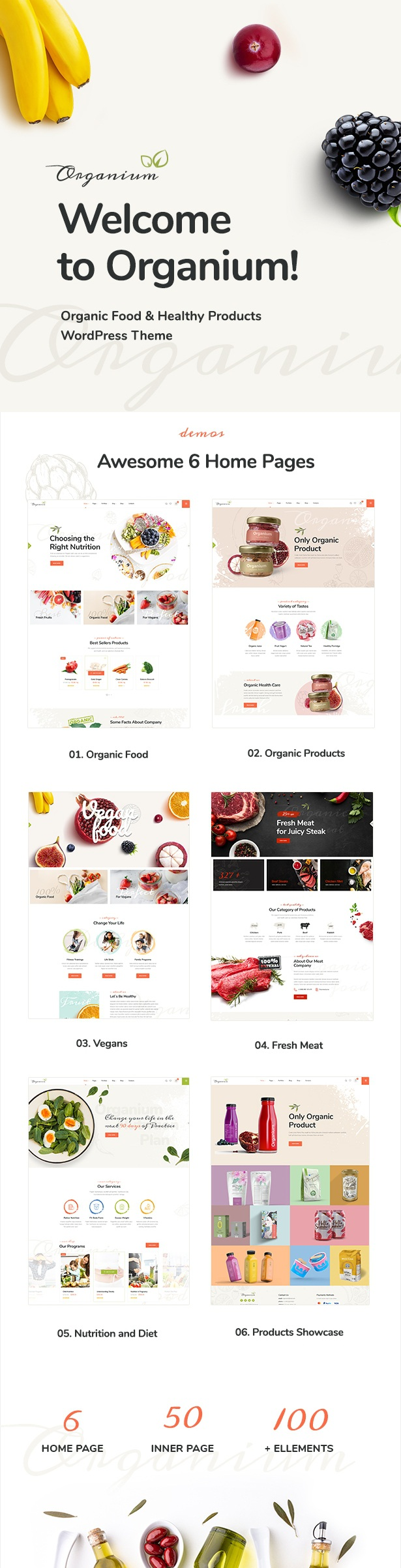 Organic Food Products WordPress Theme