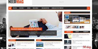NeedMag Blogger Template