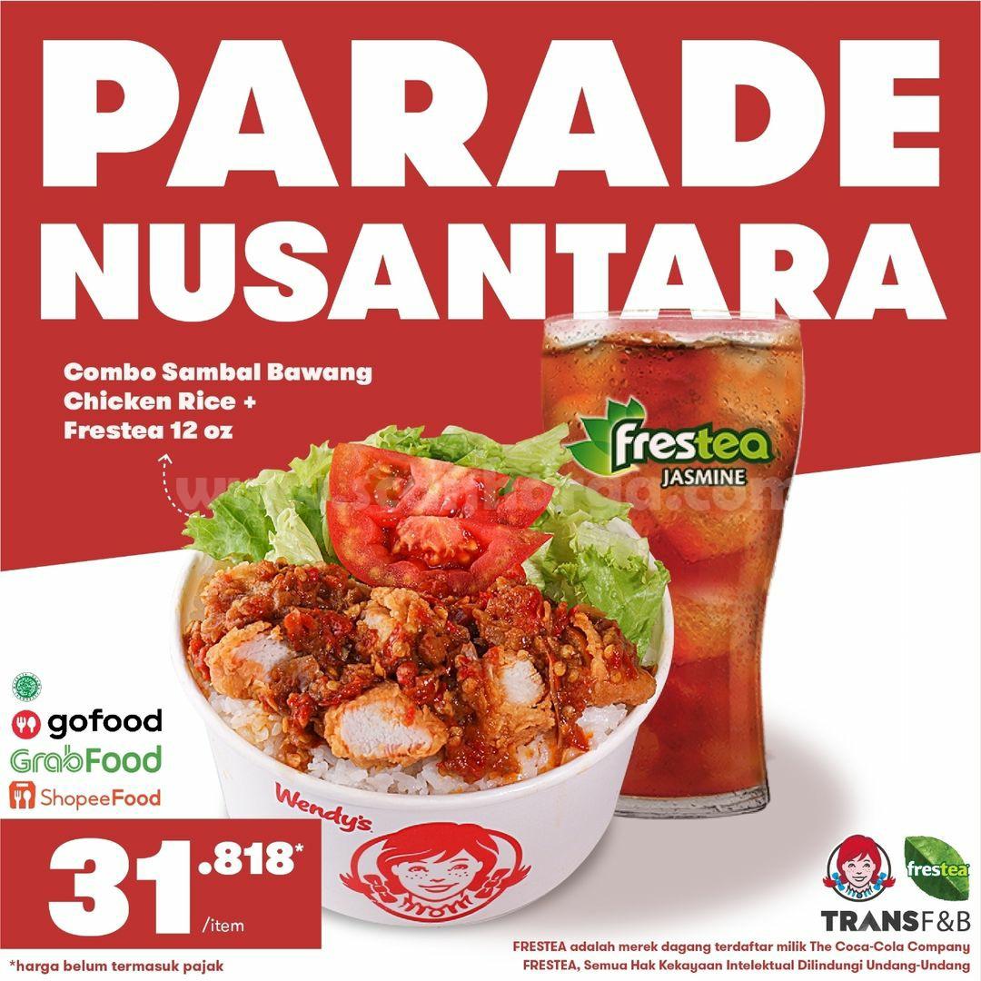 Wendys Promo Parade Nusantara -  Paket Combo + Sambal Series harga 31 Ribuan!