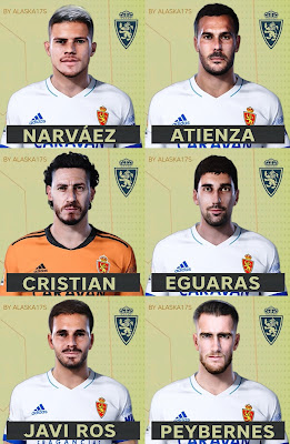 PES 2021 Real Zaragoza Facepack by Alaska17S