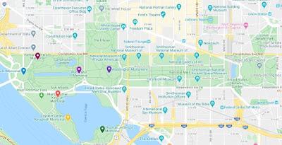 mapa de monumentos del dc