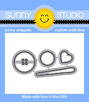 Sunny Studio Stamps: Introducing Cute As A Button Coordinating Dies