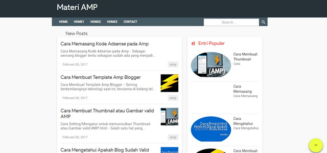 Materi AMP Blogger Templates