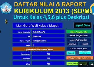 Download Aplikasi Rapor Kurikulum 2013 Kelas Atas Basirin Com