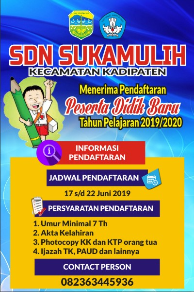 Contoh Banner Ppdb Sd Format Cdr