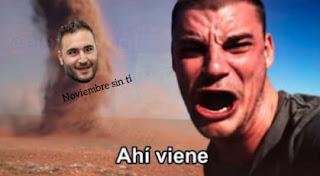"""Memes de humor """"Noviembre sin ti"""""""