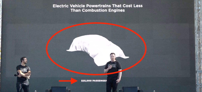 Elon Musk en el battery day de Tesla