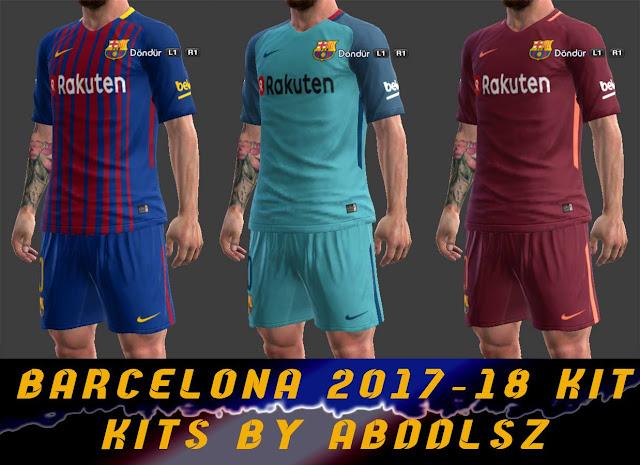 ultigamerz: PES 2013 Barcelona 2017-18 New Kits