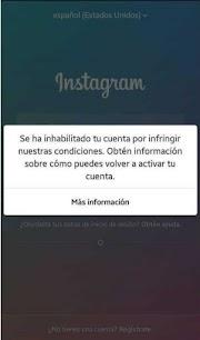 Instagram inhabilitado mi cuenta ¿Qué hago? - Información actualizada a 2020)