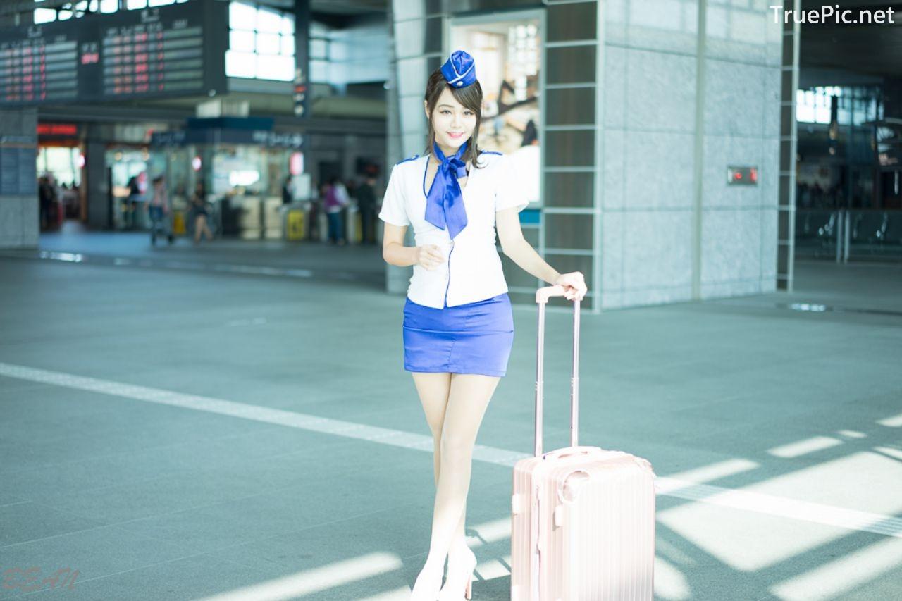 Image-Taiwan-Social-Celebrity-Sun-Hui-Tong-孫卉彤-Stewardess-High-speed-Railway-TruePic.net- Picture-6