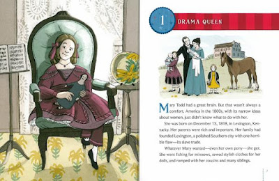 Mary Todd Lincoln as a child illustration