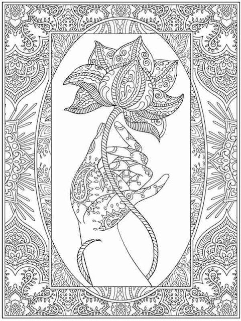 awesome flower adult coloring pages printable