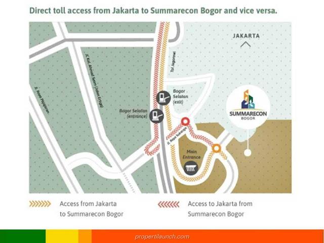 Akses Menuju Summarecon Bogor