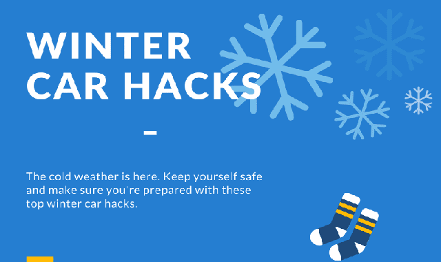 Winter Car Hacks #infographic