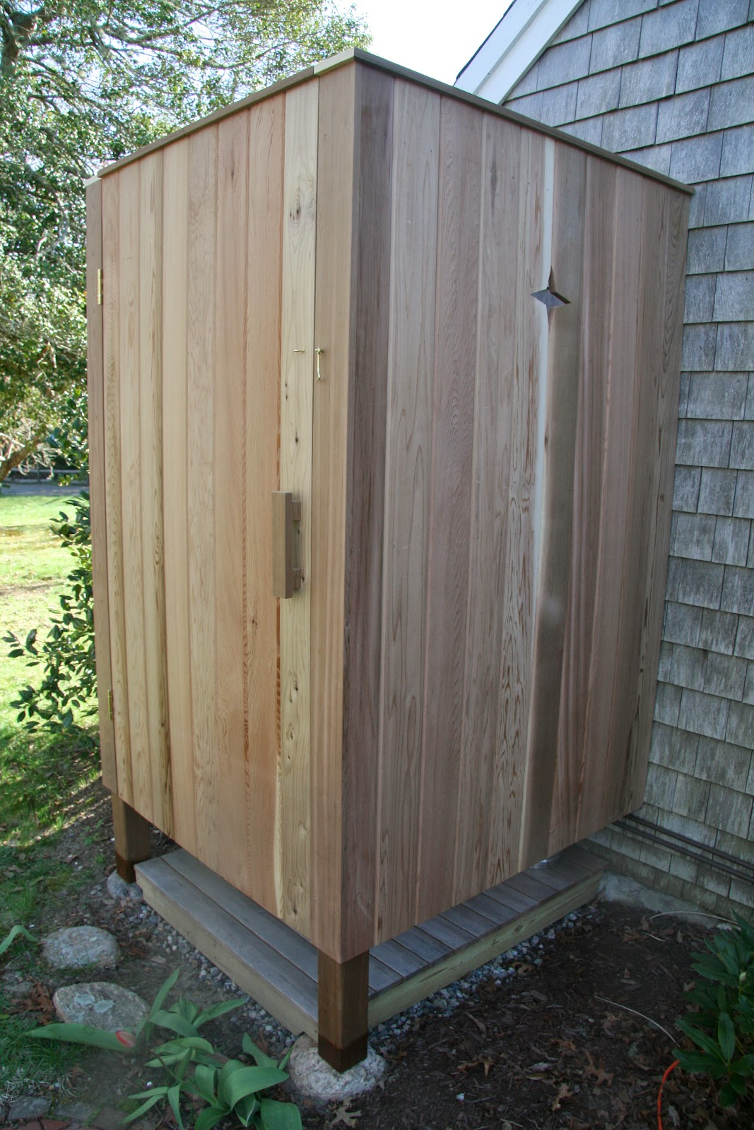Outdoor Shower Base Ideas An Old Farm Building An Outdoor Shower