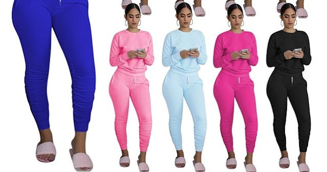 frugal fashion hot hair stacked leggings corset tops sweatpants set