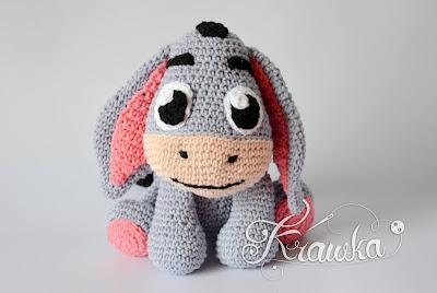 Krawka: Crochet donkey pattern by Krawka Eeyore inspired Winnie the Pooh