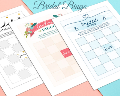 Bridal Bingo Cards - Here Come New Ideas For Bridal Showers - Shutterfly - Wedding Soiree Blog by K'Mich, Philadelphia's premier resource for wedding planning and inspiration