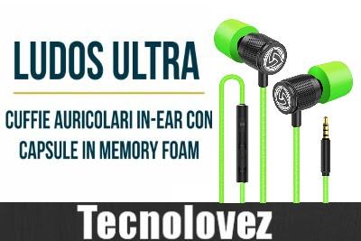 Ludos Ultra - Cuffie auricolari in-ear con capsule in Memory Foam