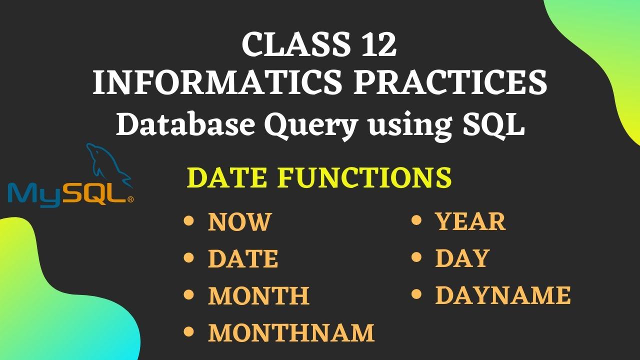 MySQL Date Functions