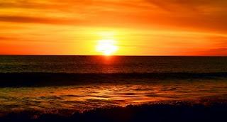 sunset pantai glagah kulonprogo