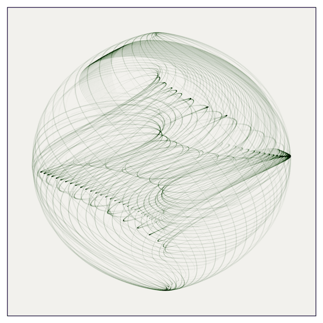 Beautiful swirl image that made with Processing.