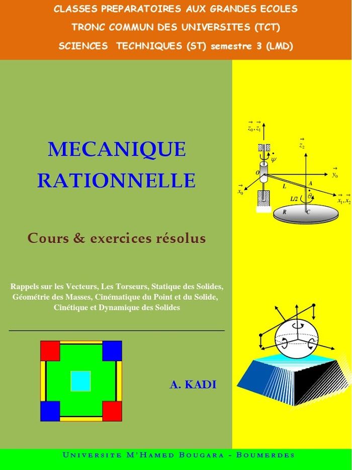 Livre Mécanique Rationnelle Cours et exercices résolus PDF