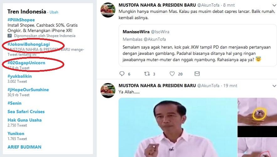 #Jokowibohonglagi
