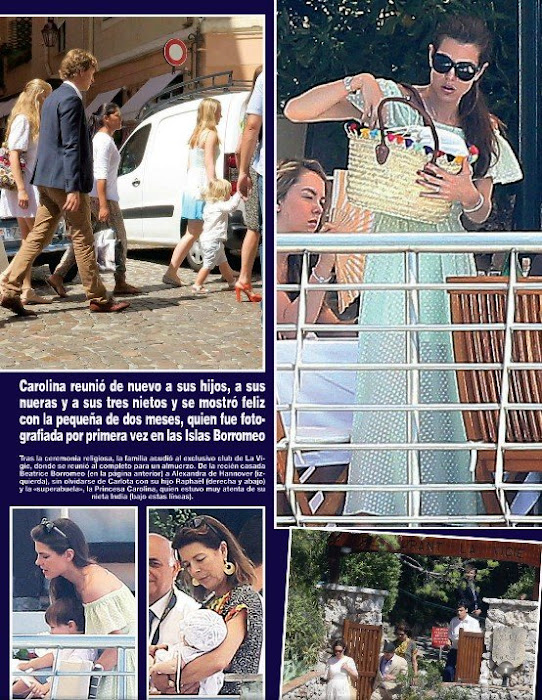 Andrea Casiraghi and Tatiana Santo Domingo, Princess Caroline of Hanover, Beatrice Borromeo, Pierre Casiraghi, Charlotte Casiraghi, Princess Charlene of Monaco