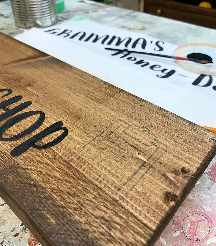 Grandma's Honey Do Shed Sign Painted Graphic