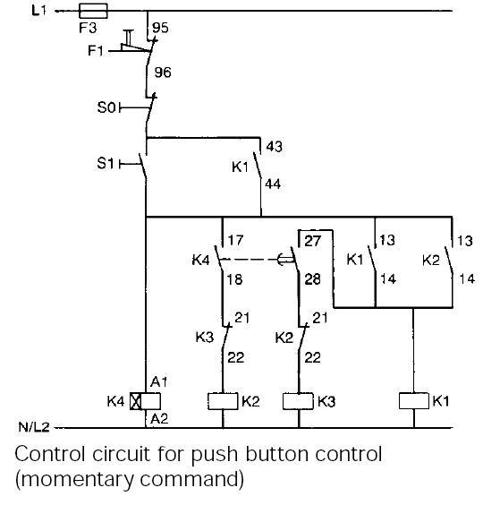 Typical circuit diagram of Star Delta starter | PLC, PLC