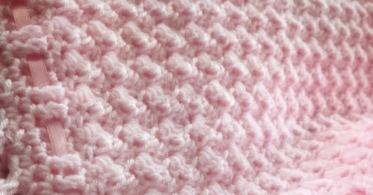 Beautiful Textured Unique Crochet Baby Blanket With Wave Border