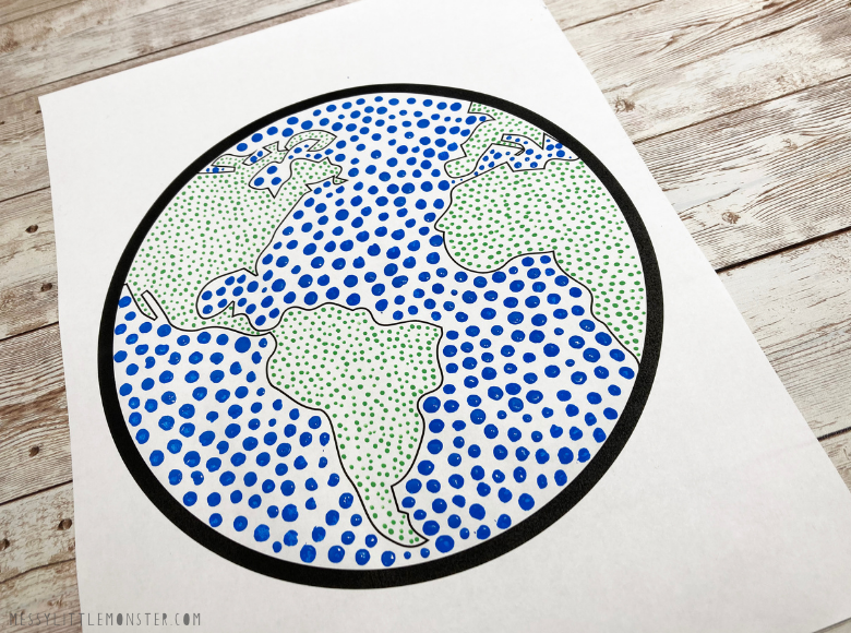 Earth dot art