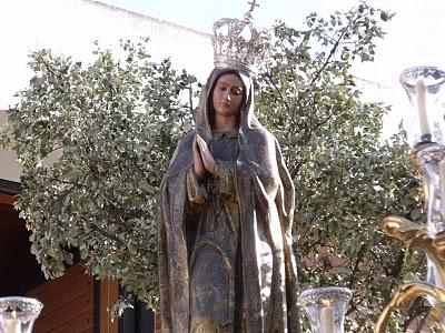 Horario e Itinerario Procesión de la Virgen de Fátima. Jerez de la Frontera 31 de MAyo