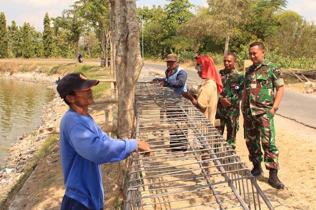 Dandim 0723/Klaten Cek pembuatan Jembatan Satgas TMMD Reg ke 105 di Jimbung