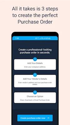Screenshot Free Purchase Order Generator - Apcoid