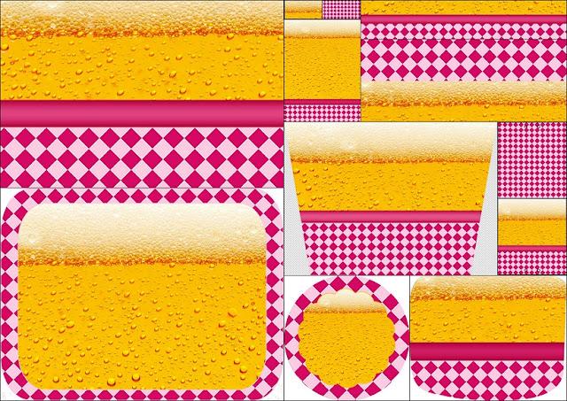 Fiesta de la Cerveza para Chicas: Etiquetas para Candy Bar para Imprimir Gratis.