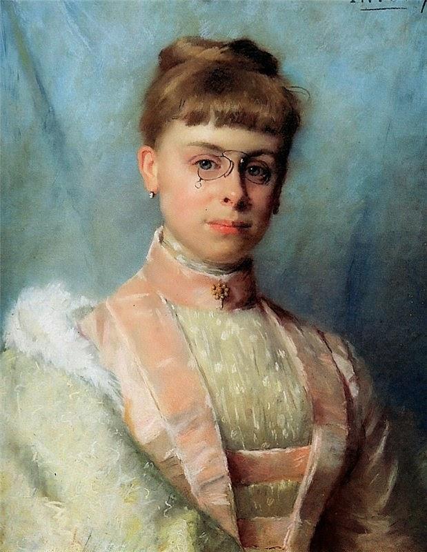 Portrait of Johanna Eugenia Theadora Van Hoorn Schouwe(1902), Therese Schwartze