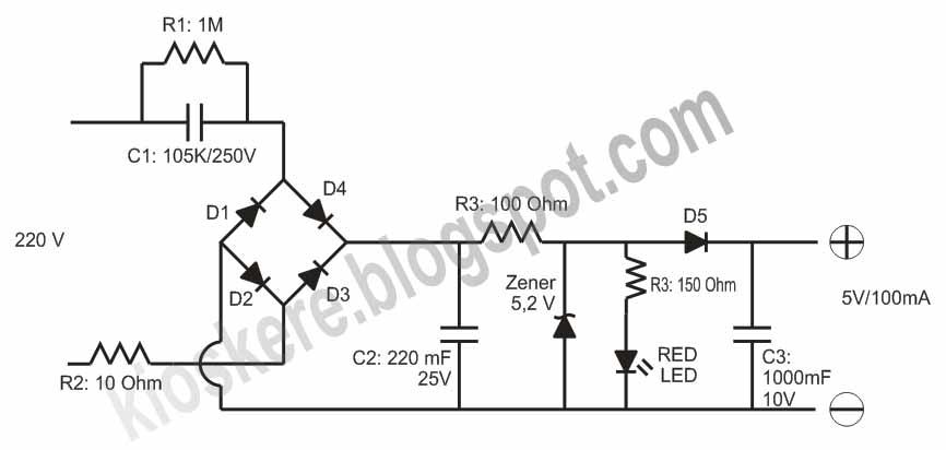 rangkaian power supply adaptor trafo