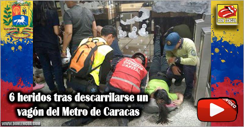 6 heridos tras descarrilarse un vagón del Metro de Caracas