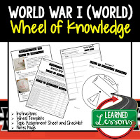 World War I, Progressive Era, American History Activity, American History Interactive Notebook, American History Wheel of Knowledge